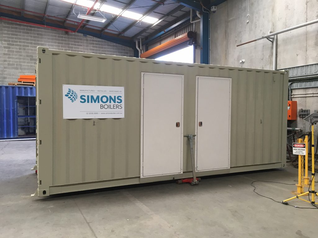 Custom built container to house boiler and ancillary equipment delivered to South Headland Power Station